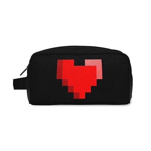 Travel Case Pixels Heart