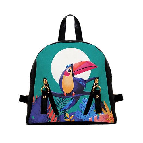 Mini Backpack tropical bird