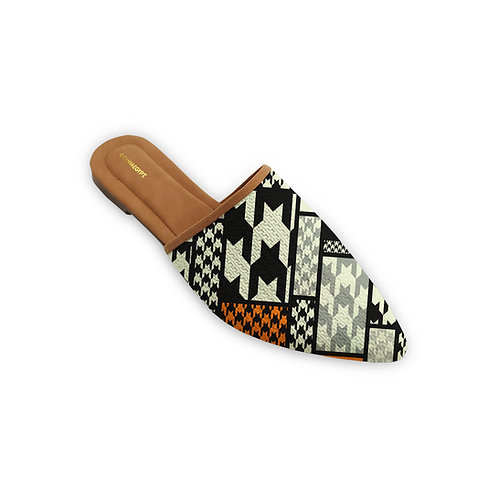 Mules Slipper Houndstooth