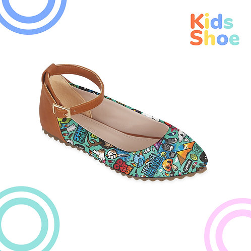 Kids Round Shoes Stickers