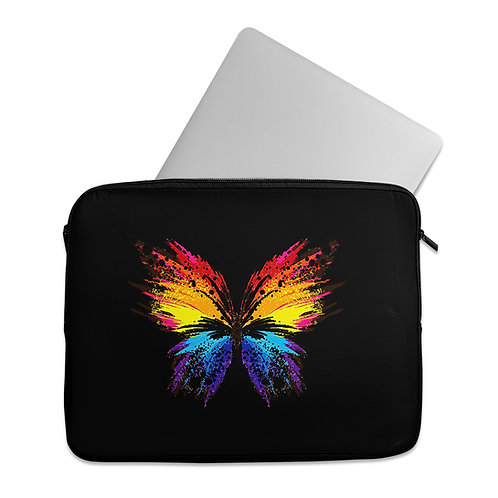 Laptop Sleeve Butterfly colorful