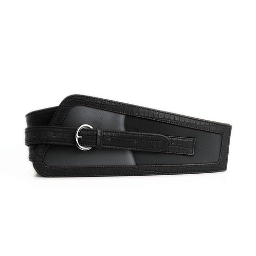 Black Women's Belt Grey Flows