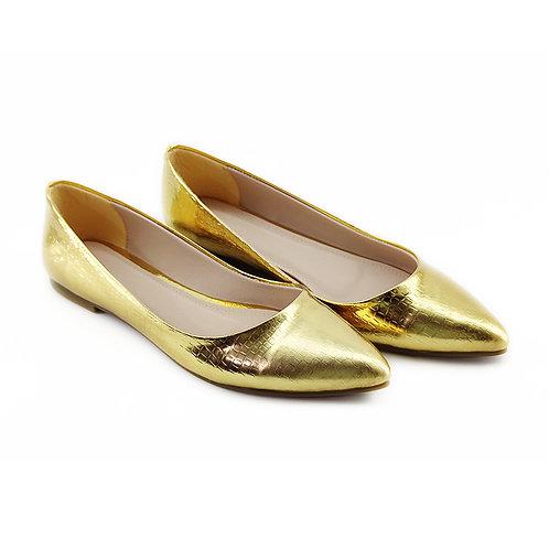 Soiree Flat Women's Shoe Gold