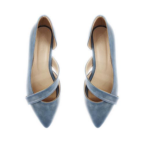 Blue Wave Flat Women's Shoe