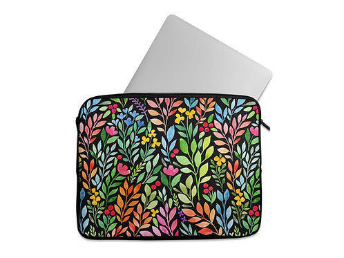 Laptop Sleeve colorful flowers