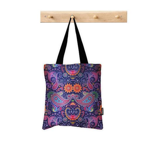 Tote Bag Purple Floral
