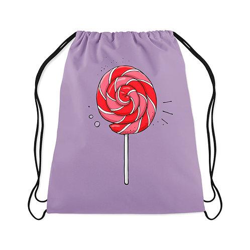 Drawstring Bag Spiral striped lollipop