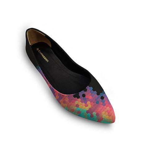 Flat Women's Shoe Hexagon