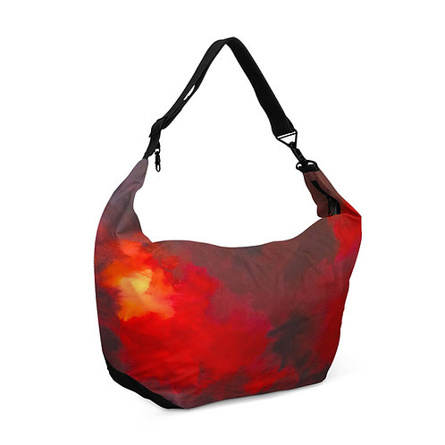 Crescent bag Red Clouds