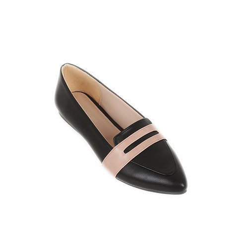 Basic Black Rose  Flat Shoe