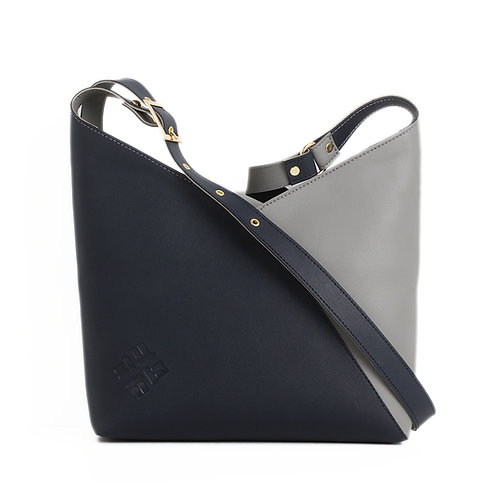 Bicolor Triangles Bags DB with Grey