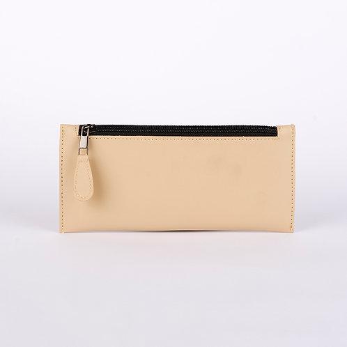 Light Copper Solid Leather Women's Wallet
