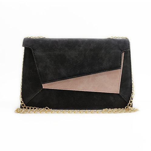 Patchwork Women's Handbag Rose Black