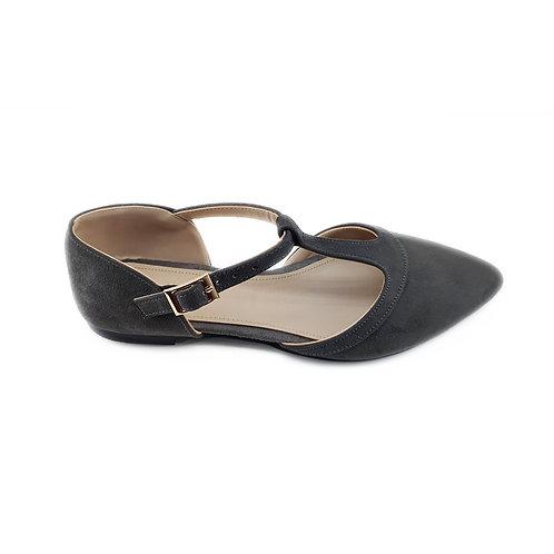 Dark Grey Hideout Flat Women's Shoe