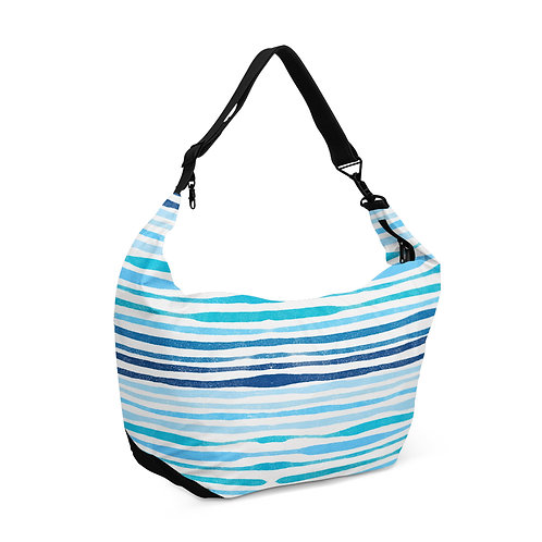 Crescent bag Blue Lines