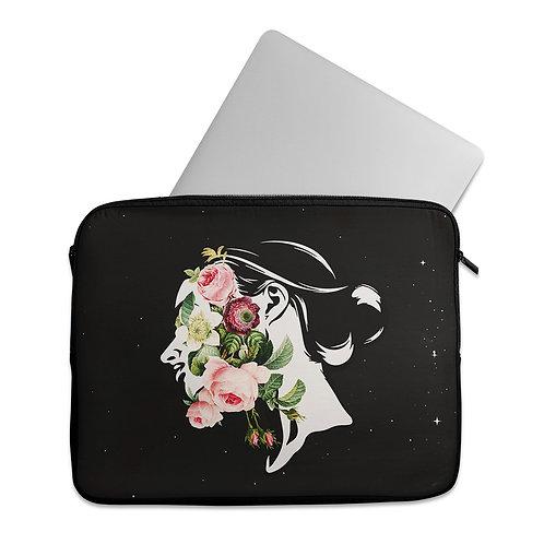 Laptop Sleeve Flowers inside