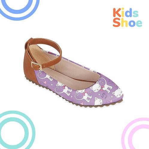 Kids Round Shoes Little Cat
