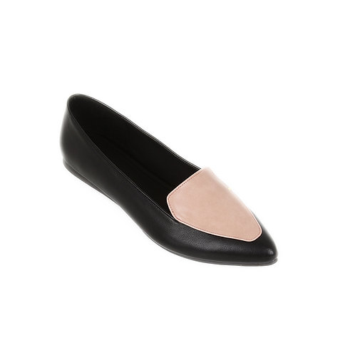 Black Rose Stamp Flat Shoe