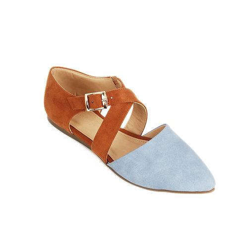 Havana Blue Pointy Toe Shoe