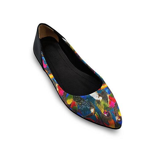 Flat Women's Shoe Parrots