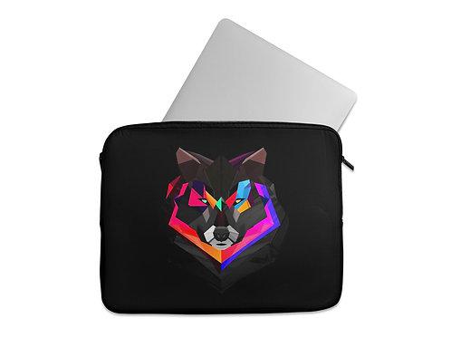 Laptop Sleeve Neon Wolf