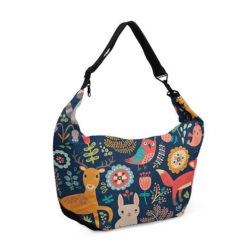 Crescent bag Forest Animals