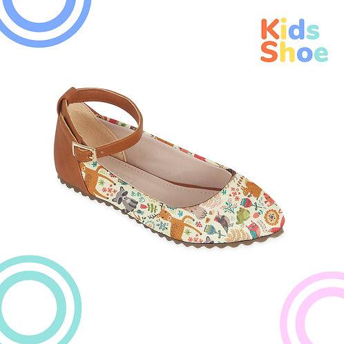 Kids Round Shoes Forest Animals