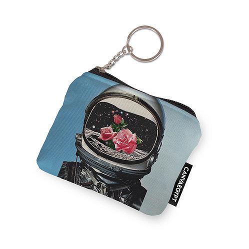 Coin Pocket Astronaut Flower