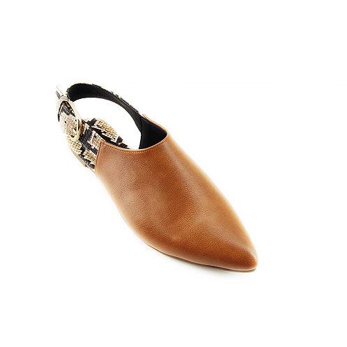 Havana Slingback Snake Flat Women's Shoe