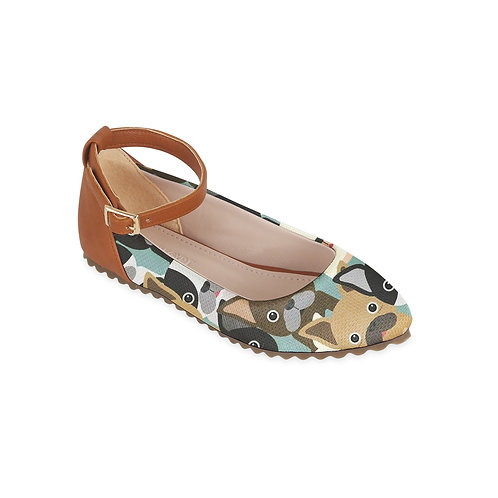 Kids Round Shoes Cute Dogo