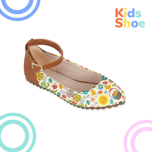 Kids Round Shoes Happy Easter