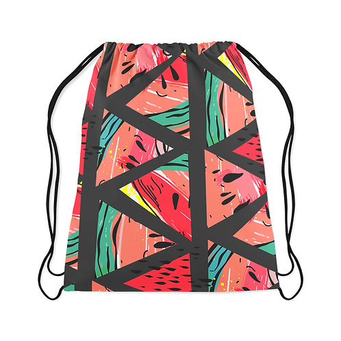 Drawstring Bag Watermelon Black
