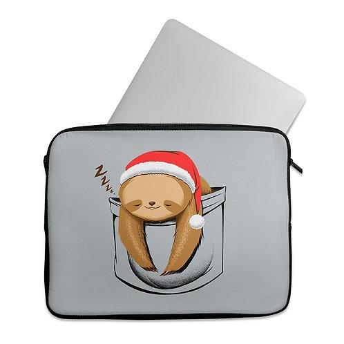 Laptop Sleeve Sloth in a pocket Xmas