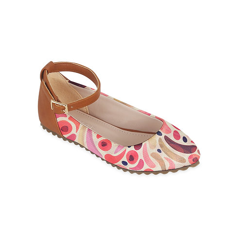 Kids Round Shoes Flying Pink