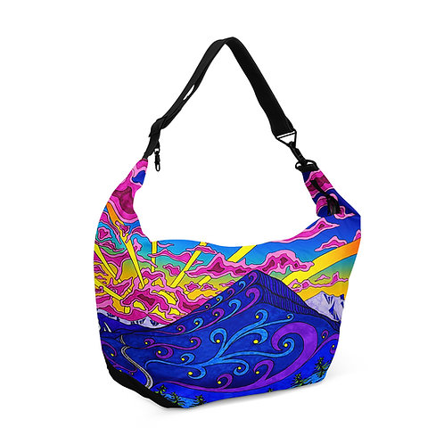 Crescent bag Psychedelic Mountains