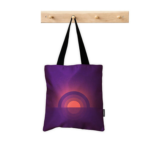 Tote Bag purple sunset