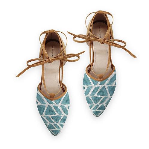 Rope Tie Sandal African Blue