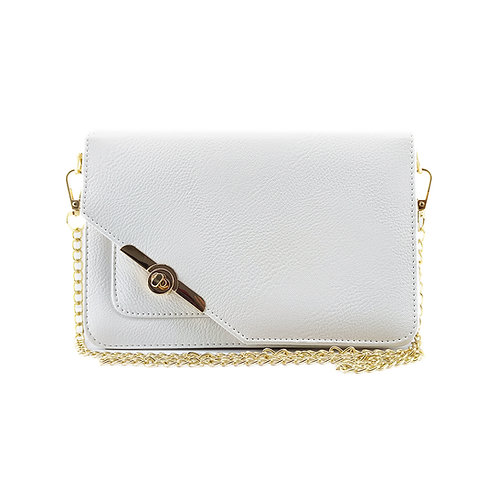 Quilted White Shoulder Bag