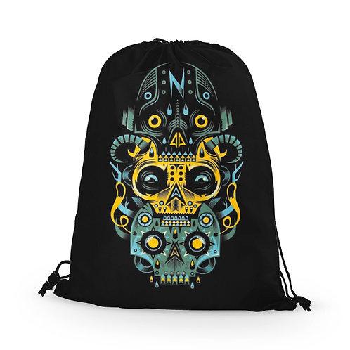 Drawstring Bag Skulls Artwork