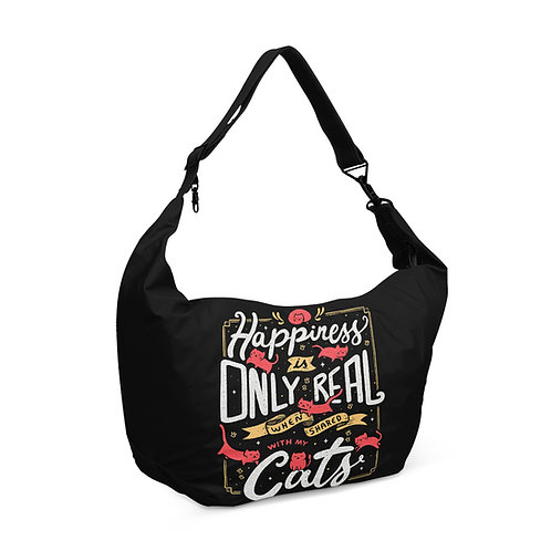 Crescent bag Happiness Is Real With Cats