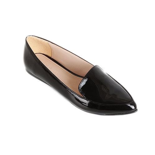 Black Shiny Basic Flat