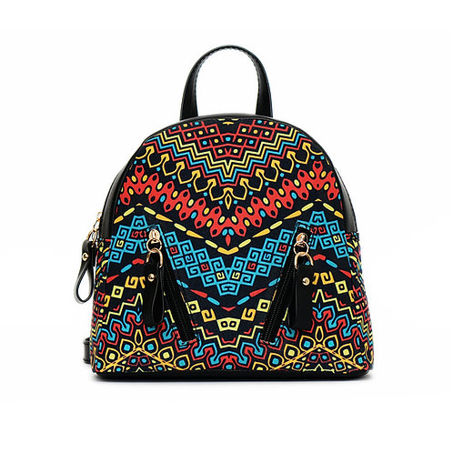 African Pattern Mini Backpack