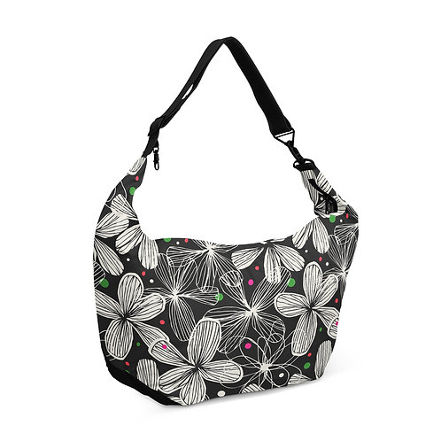 Crescent bag Black Floral