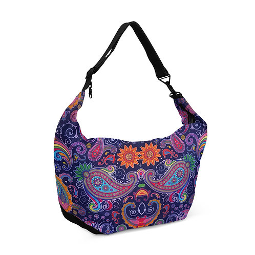 Crescent bag Floral Purple