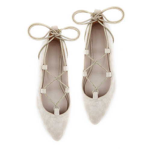 Rob Beige Flat Women's Shoe