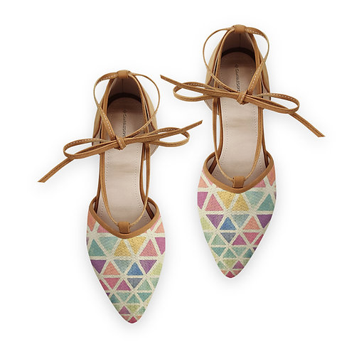 Rope Tie Sandal Triangles Colors