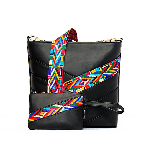 Black Indian Leather Bag