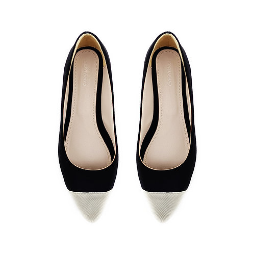 Pump Black  Flat Women's Shoe