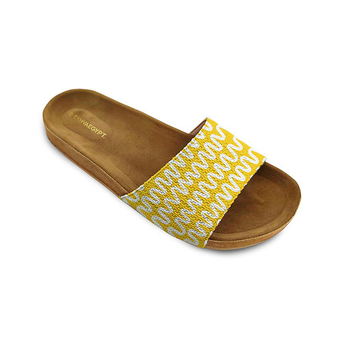 Slide Slipper Yellow Waves
