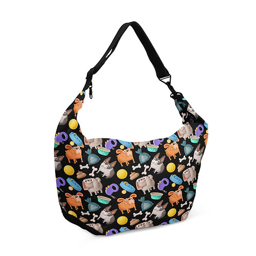 Crescent bag Dogs Pattern